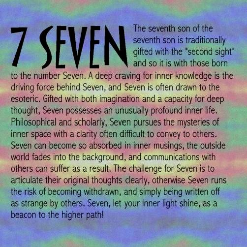 seven life path number
